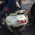 This guy was without a helmet and a number plate ... How amusing #numberplate #pune @TrafflinePune #breakingrules http://t.co/UbIlZrzbSj