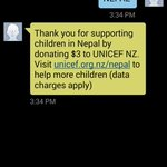 Text NEPAL to 2923 $3 automatically donated to Unicef . Thanks @CampbellLiveNZ for the info. http://t.co/pFpwAA50Ku