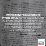 LOOK: In handwritten letter, Mary Jane Veloso tells youth to stay away from drugs http://t.co/FZfGfgfEb7 http://t.co/wiVZdu7J1o