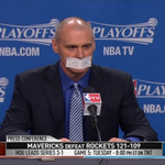 When asked about the officiating tonight, Mavs HC Rick Carlisle put a piece of tape over his mouth. http://t.co/UItDkr3Lmm
