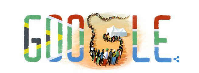 Very cool Google Doodle  #FreedomDay #SouthAfrica http://t.co/pAYRYV3vIn