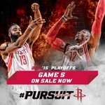 GAME 5 TICKETS ON SALE NOW: Game 5 will be Tuesday night at Toyota Center at 7PM Central: http://t.co/QuretztKe3 http://t.co/2PEGmHda4M