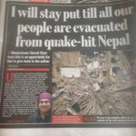 Its #ProudMoment for me & My family! My Mama(Umesh Zirpe) is staying in #Nepal till all people are evacuated. #Pune http://t.co/6CEoEkYh1H