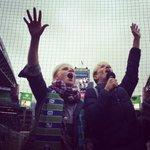.@SeattleReignFCs Megan Rapinoe & Jess Fishlock firing it up. #capo #sounders #cascadia #reign #SEAvPOR #uswnt http://t.co/VVYlcDJwm3