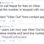 #Viber announces free calls to Nepalese mobile & land line numbers. #NepalEarthquake #IndiaWithNepal @Viber http://t.co/3OsmXsPrjj