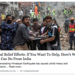 #Nepal Relief Efforts: If You Want To Help, Here's What You Can Do From India http://t.co/ru8HsxtrJP #HelpNepal http://t.co/B222tI9KAu