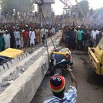 Substandard pedestrian bridge constructed by Governor Kwankwaso in Kano. Its collapse has claimed 7 lives http://t.co/m1rsoKSxYU
