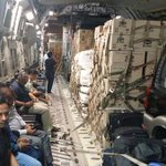 #OperationMaitri 22 tonnes of food packets,120 large oxygen cylinders moved. More enroute today | #IndiaWithNepal http://t.co/E6YjtVzjay