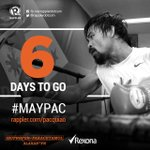 SIX days to go! Who are you rooting for? Get the latest #MayPac news and updates on http://t.co/z2i5FswzAB! http://t.co/EuQYk2UcvH