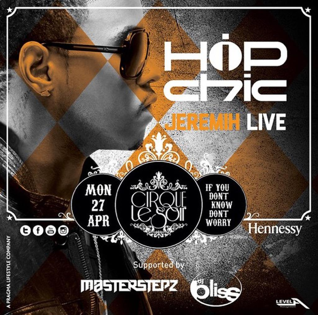 A huge #HipHopChic party tonight with @JEREMIH live! Plus @DJBLISS & @Masterstepz  at @cirquelesoirdubai  #IYDKDW http://t.co/w7QSRkpv2F