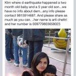 RT @shruti9849: @NayantharaU @shrutihaasan @SrBachchan Mother & sons r missin in nepal.  Ph:9815914687 Mother no:009779803658023 RT http://…
