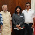 BJP_Gujarat: RT narendramodi: Met Indias pride & the talented bhaktisharma4. http://t.co/zO9s7bQ50d #ThankYouPM #BJP