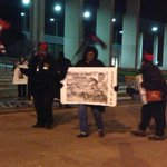 "Chants of ""All Night Long"" coming from the overnight rally at the Justice Center. http://t.co/v5oO6CCeBH http://t.co/kcdBZrCCQS"