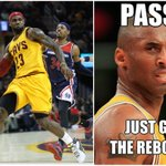 YESTERDAY: LeBron James passed Kobe Bryant for 8th all-time in playoff assists! #KingOfRecords http://t.co/bgqFXQL8Ek