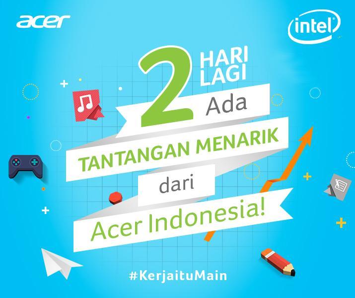 Mau penghasilan 20juta per bulan? Siapkan dirimu, sebentar lagi Acer akan membuka kesempatan utk spAcer se-Indonesia http://t.co/EF7OqrGpLG