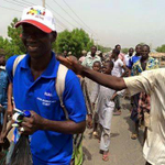 2nd Man trekking from Adamawa to Abuja on GMBs honour, when will you start your own? @omojuwa @Ayourb @GbengaGOLD http://t.co/ojswhg37lY