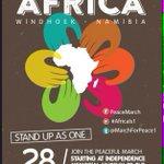Peace March in Windhoek tomorrow http://t.co/3sOrpvMV0L