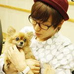 AWWWW.... LEADER LEETEUK WITH CHOCO AT SUKIRA. :) #RIPChoco T.T THIS IS SO CUTE TEUKIE CUDDLING CHOCO IN HIS ARMS :) http://t.co/3eL9b2L6vR
