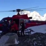 WATCH: Climbers plucked from high on Everest return to base camp after Nepal #earthquake http://t.co/XQkfnd9AgS http://t.co/UxzvJaFcKC