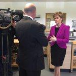 .@NicolaSturgeon visiting The Cook School in Kilmarnock this morning. #GE15 #VoteSNP http://t.co/oqkuhgW9Do