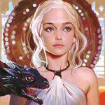 #GameOfThrones Daenerys https://t.co/mmdvId7uNH Color practice from screencap! http://t.co/DDn54HaDGH