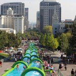 Whee! Giant 300-metre water slide to set up in Cardiff this summer http://t.co/dXzPJbgb6g http://t.co/s2bUAAhtIK