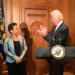 """She excelled in everything shes done. A first rate, fair minded, independent lawyer & prosecutor."" @VP on AG Lynch http://t.co/rulXmPSn4O"