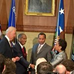 Loretta Lynch takes the oath of office with her husband and her father by her side, now the 83rd Attorney General. http://t.co/X3HoAw2C3K