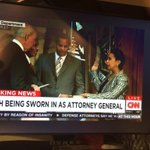 Making History. #LorettaLynch is sworn in as Attorney General. @wusa9 http://t.co/j6GFnjAhOc