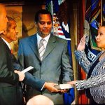 After a 166 day wait - Loretta Lynch is sworn in as 1st African American woman US attorney general http://t.co/L0e5bhVlbT