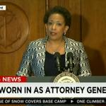 BREAKING: Loretta Lynch has been sworn in as the 83rd U.S. attorney general http://t.co/sCv1kXqAIv