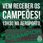 Vem receber os nossos campeões, hoje às 13h30 no aeroporto! #EuVouLáEstar http://t.co/Z1djmZEh0b