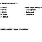 jual followers twitter murah! Hub/WA: 0812-9902-6873 #SaveGolkarNoIcal #BOBOIM3 DTerong #AmanItu #SIMAKUI http://t.co/4Lb8NWrKFr