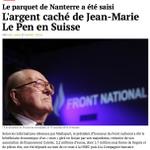 """Largent caché de J-M Le Pen en Suisse: un compte via son """"majordome"""" lié au financement du FN http://t.co/sa7dVynjSC http://t.co/h9kEatPQ5F"""