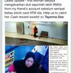 Tolong RT! Cash rewards untuk siapa yang dapat tangkap that woman!! @KuantanTV http://t.co/M4LpcFaCGs