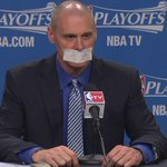 ICYMI: Mavs coach Rick Carlisle tapes own mouth to avoid fine for criticizing referees WATCH: http://t.co/P6J1eqicbH http://t.co/KQrDtPMIfF