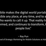 RT @Adobe: Is your business fully embracing mobile? Two inspiring examples of digital transformation: http://t.co/6eq6R117Yj http://t.co/Fg…