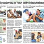 Venezuela inició Jornada de las Américas para vacunar a 3,8 millones de personas @TareckPSUV @NicolasMaduro http://t.co/NHiVMowpn5