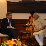 President of the International Olympic Committee (IOC), Thomas Bach calls on PM Narendra Modi http://t.co/eAxMVgM3AG