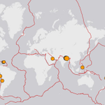 #Earthquakes #LiveTracking...those red lines are the fault lines where two plates collide @