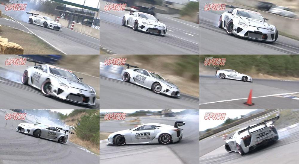 Video: Watch the 1000 horsepower drift-built Lexus LFA on the track: http://t.co/u7uJw8Qh3o http://t.co/qsw6qbqfGU