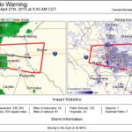 Tornado Warning including Baton Rouge LA, Denham Springs LA, Port Allen LA until 9:45 AM CDT http://t.co/m2SYRPPhKG