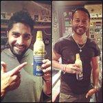 RT @Submergemusic: .@hermitsethi and .@nikhilchinapa just found a party in a bottle. Those Corona Sunset Bottles look amazing (1/2)