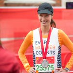 Congrats to @CTurlington! She smashed her personal record at the @LondonMarathon, finishing in 3:46:45. Inspiring! http://t.co/1qYjEy5klq