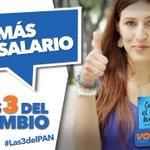 Subamos los salarios, es injusto que algunos mexicanos ganen 67 pesos al día #Las3DelPAN http://t.co/UcYquGE0OI