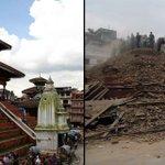 Népal : les photos avant / après http://t.co/HJPG1NNqX6 #SeismeNepal #seisme http://t.co/qCTXInPnqU