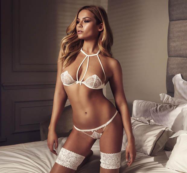 Babe model in lingerie consider, that