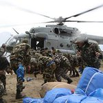 #NepalEarthquake First Pic.-2 Rescue and Relief Operations at Dhunche by India. http://t.co/Q0LzTLw59i