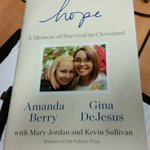 Hot off the presses. Im digging through the new Amanda Berry, Gina DeJesus book. LIVE reports at 4, 5 and 6pm @WEWS http://t.co/xIhxADJ4Vf