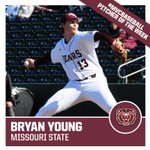 #MVCBaseball Pitcher of the Week: Bryan Young of @MSUBearBaseball. http://t.co/BemR7XCKiA